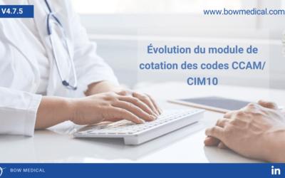 Évolution du module de cotation des codes CCAM/ CIM10